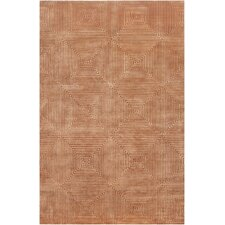 Luminous Rust Orange Rug