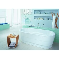 "Vaio Duo 71"" x 32"" Oval Bathtub with Molded Panel"