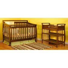 Amy 3-in-1 Convertible Crib Set with Toddler Rail