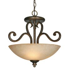 Heartwood 3 Light Convertible Inverted Pendant