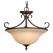 Homestead Ridge 3 Light Convertible Inverted Pendant
