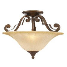 Pemberly Court 2 Light Convertible Semi-Flush Mount