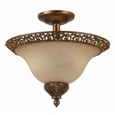 Crown Jewel 2 Light Semi Flush Mount