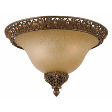 Crown Jewel 2 Light Flush Mount