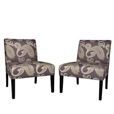 Bradstreet Chair Set in Feathered Paisley