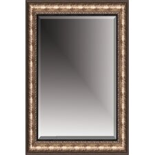 Beveled Mirror in Black - Broken Silver