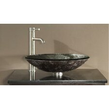 Tempered Glass Vessel Bathroom Sink