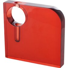 "Roth 8"" Square Vase in Red"
