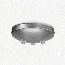 Triple Pendant Accessory Canopy in Metallic Gray