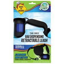 Small Retractable Pet Leash in Black