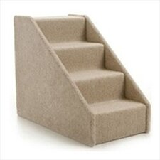 Large Solid Side Pet Stairs - Four Step