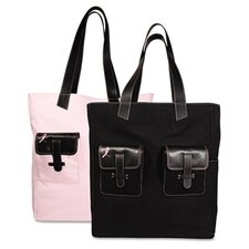 Pink Ribbon Canvas Tote
