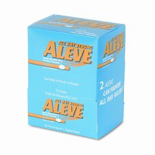 Aleve Tablet Pain Reliever Refill, 50 Packages per Box
