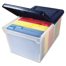 Innovative Storage Designs File Tote Storage Box with Lid , Letter, Plastic