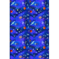 Fluorescent Space Explorer Novelty Rug