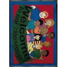 Educational Welcome to Our Classroom Kids Rug