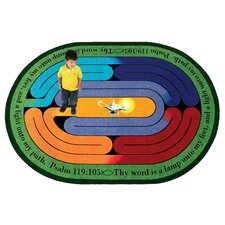Faith Based Pathway of Light Kids Rug