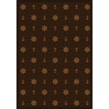Whimsy Mariner's Tale Chocolate Novelty Rug