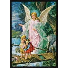 Faith Based Guardian Angel Novelty Rug