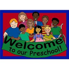 Educational Welcome to Our Preschool Kids Mat