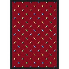 Sports Red Billiards Novelty Rug