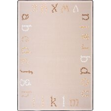 Kid Essentials Polka Dot ABC's Kids Rug