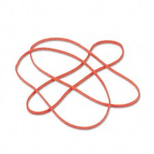 Latex-Free Orange Rubber Bands, Size 117B, 7 X 1/8, 250/Box