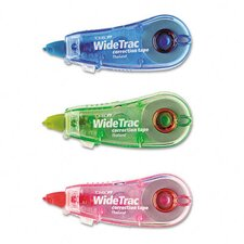 "Widetrac Correction Tape, Non-Refillable, 1/3"" X 236"", 3/Pack"