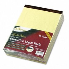 Gold Fibre Pads, Narrow/Margin Rule, Letter, Canary, 50 Sheets, 12-Pack