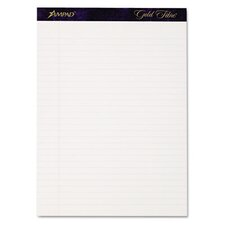 Gold Fibre Writing Pads, Legal/Wide Rule, Letter, 4 50-Sheet Pads/Pack
