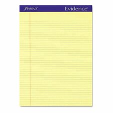 Evidence Perf Top, Narrow Rule, Letter, 50-Sheet Pads, 12/Pack