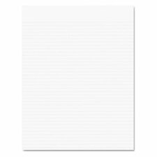 Recycled Glue Top Pads, Narrow Rule, Letter, We, 50-Sheet Pads, 12/Pack
