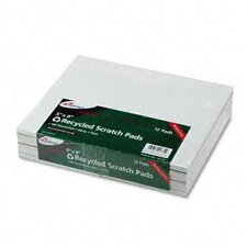 Recycled Scratch Pad Notebook, Unruled, 5 X 8, We, 100-Sheet, 12/Pack