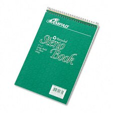 Envirotec Recycled Steno Book, Gregg Rule, 6 X 9, 80 Sheets