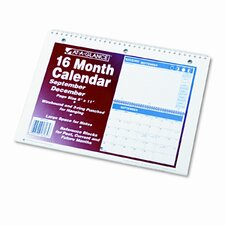 Academic Wirebound Desk/Wall Monthly Calendar, 11 x 8 Pages, 11 x 16 Overall, 2013