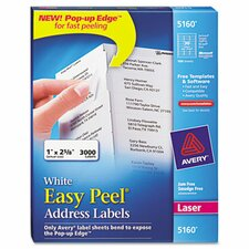 Easy Peel Laser Address Labels, 3000/Box
