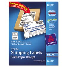 Shipping Labels with Paper Receipt, 10/Pack