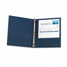 "Economy Round Ring Reference Binder, 1"" Capacity"