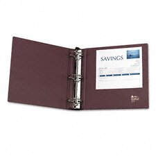 Heavy-Duty Binder with Three Round Rings, 3in Capacity, Mauve