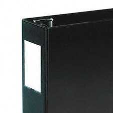 Durable Vinyl Slant Ring Binder w/Label Holder, 4in Capacity, Black