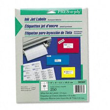 Pres-A-Ply Inkjet Address Labels, 250/Pack