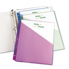 Ring Binder Polypropylene Pockets, 5 Pockets/Pack