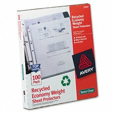 Top-Load Recycled Polypropylene Sheet Protector, 100/Box