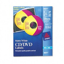 Inkjet CD/DVD Labels (100/Pack)