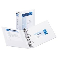 "Economy View Binder, 8-1/2""x11"", 3"" Cap, White"