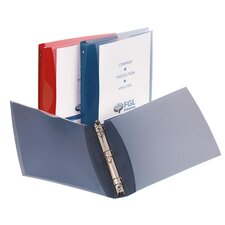 "Flexible View Binder, 1"" Round Ring, View Pocket, Assorted"