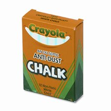 Nontoxic Anti-Dust Chalk (12 Sticks/Box)