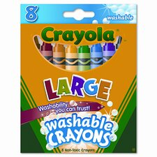 Large Washable Crayons (8/Box)