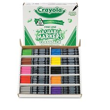 Washable Classpack Markers (8 Assorted, 200/Box)