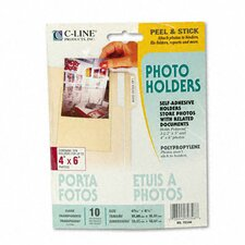Peel & Stick Photo Holders for 3X5 & 4 X 6 Photos (10/Pack)